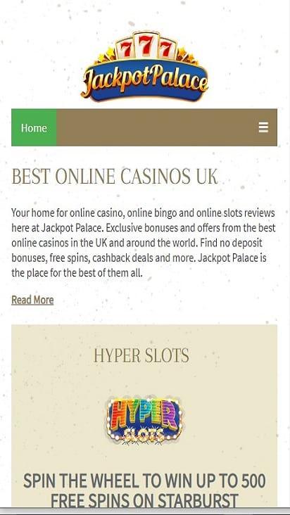 Jackpot Palace home mobile