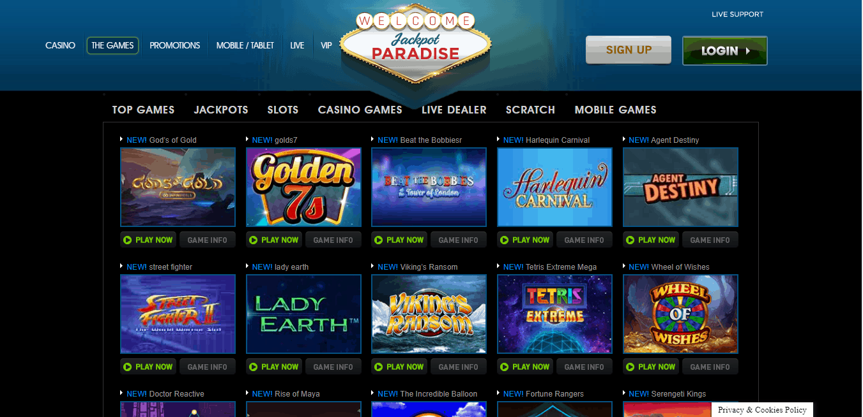 Jackpot Paradise game