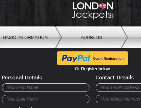 London Jackpots Signup