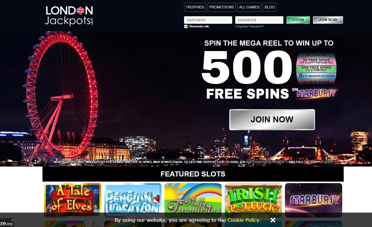 London Jackpots Home