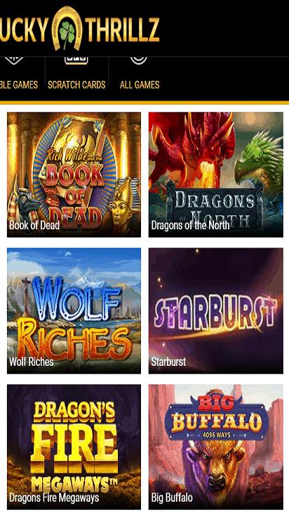 LuckyThrillz game mobile