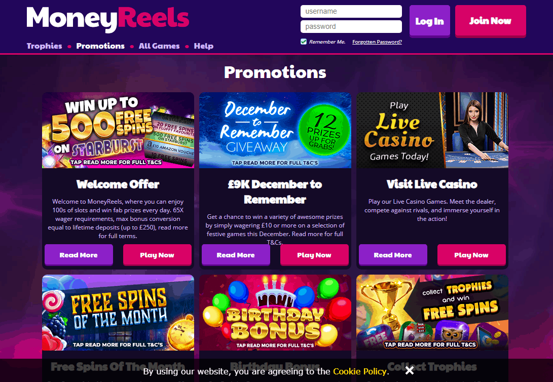Money Reals Promotions