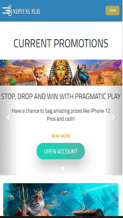NeptunePlay pomo mobile