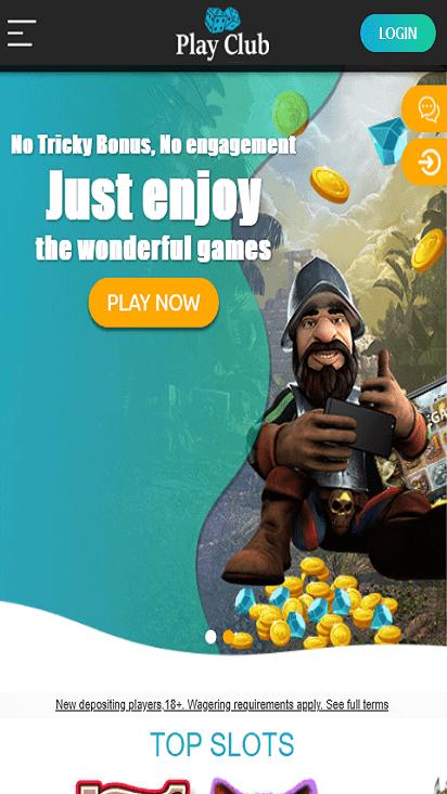 PlayClub home mobile