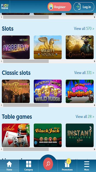PlayFrank game mobile