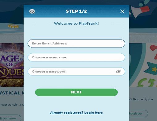 playfrank signup