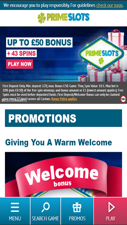 PrimeSlots pomo moible