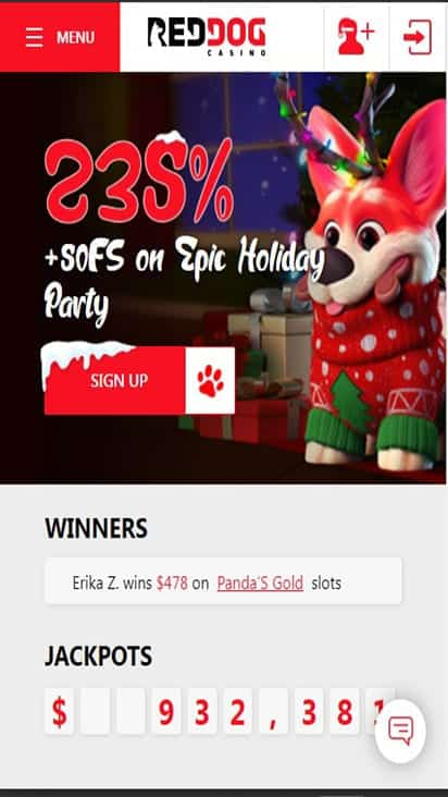 Red Dog Casino home moible