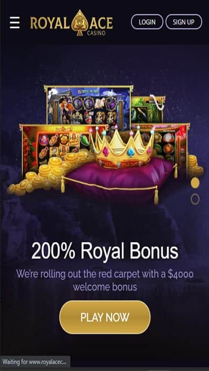 Royalace Casino home mobile