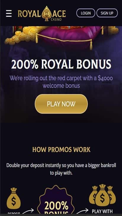 Royalace Casino promo mobile