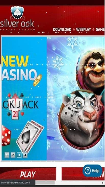 Silver Oak Casino home mobile