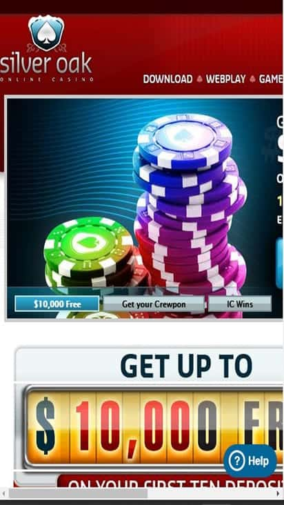 Silver Oak Casino promo mboile