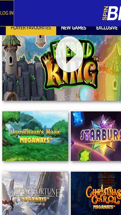 SpinBig game mobile