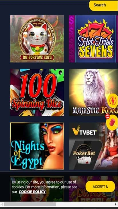 Spinup Casino game mobile
