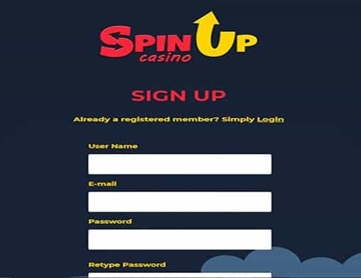 Spinup Casino signup