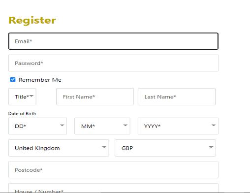 Bingo Registration