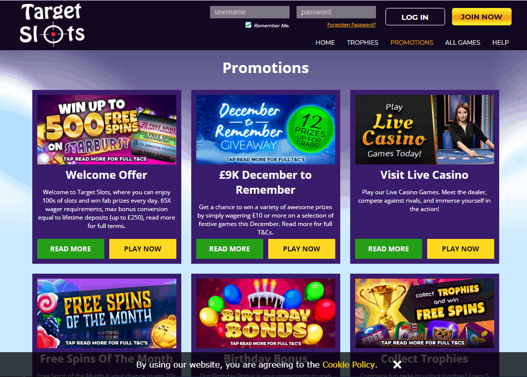 Target Slots Promotions