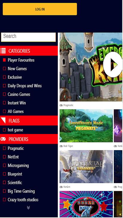 Vegas100 game mobile