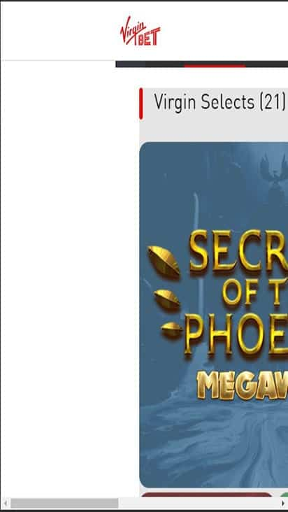 Virgin Bet game mobile