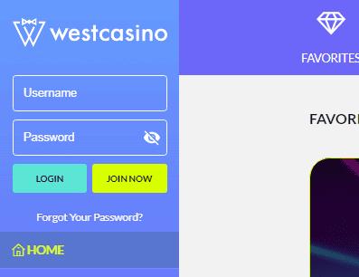 West Casino Login