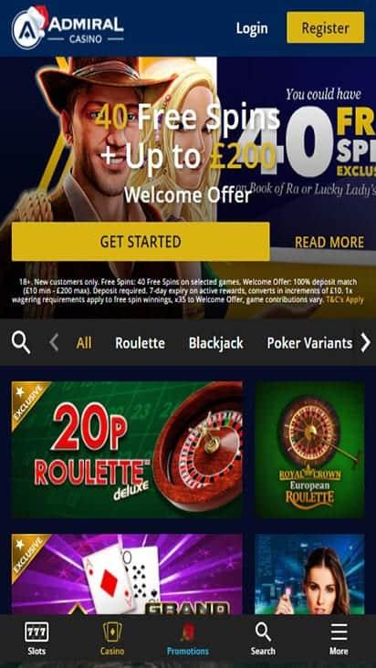 admiral casino game mobile