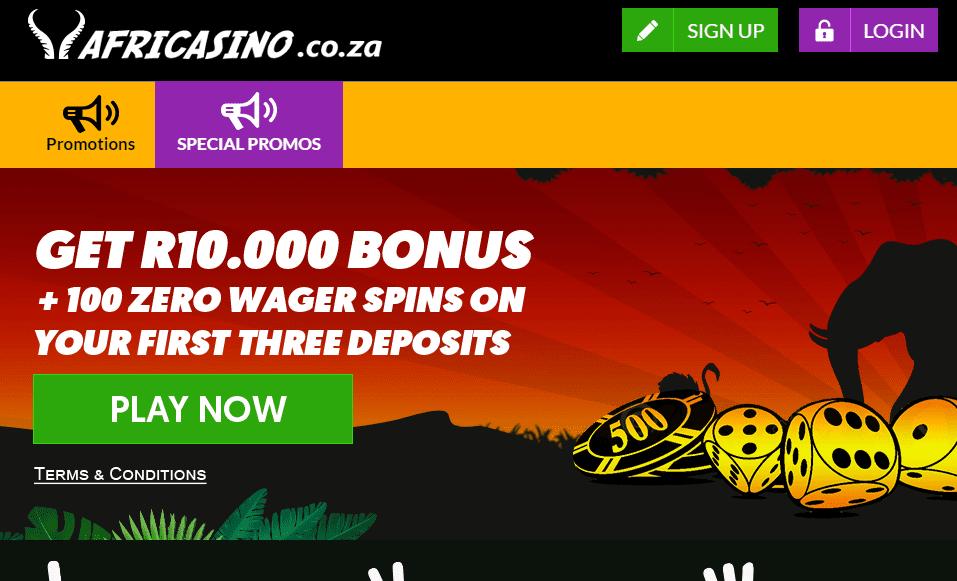 afri casino home