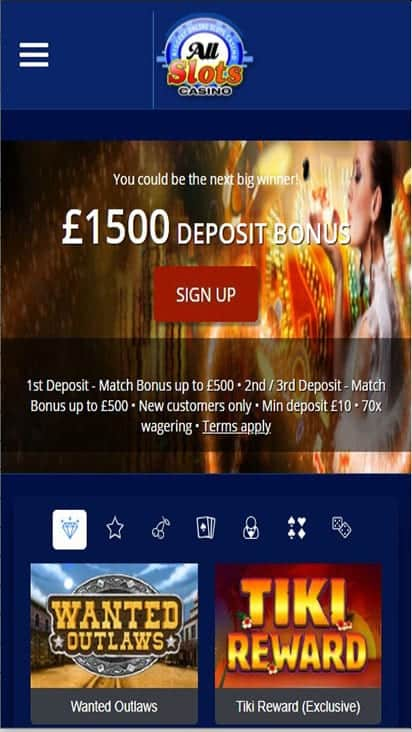 all slots casino home mobile