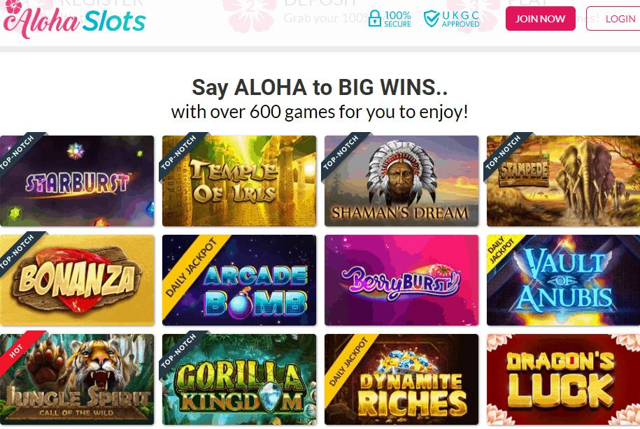 aloha slots games