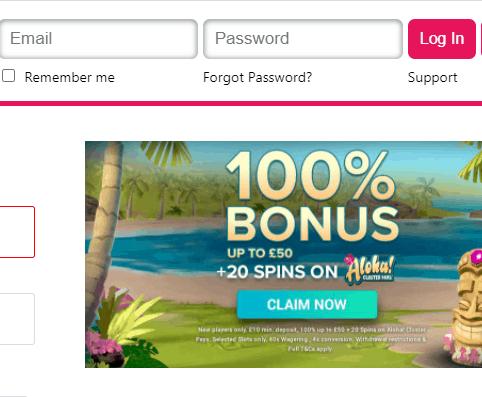 aloha slots login