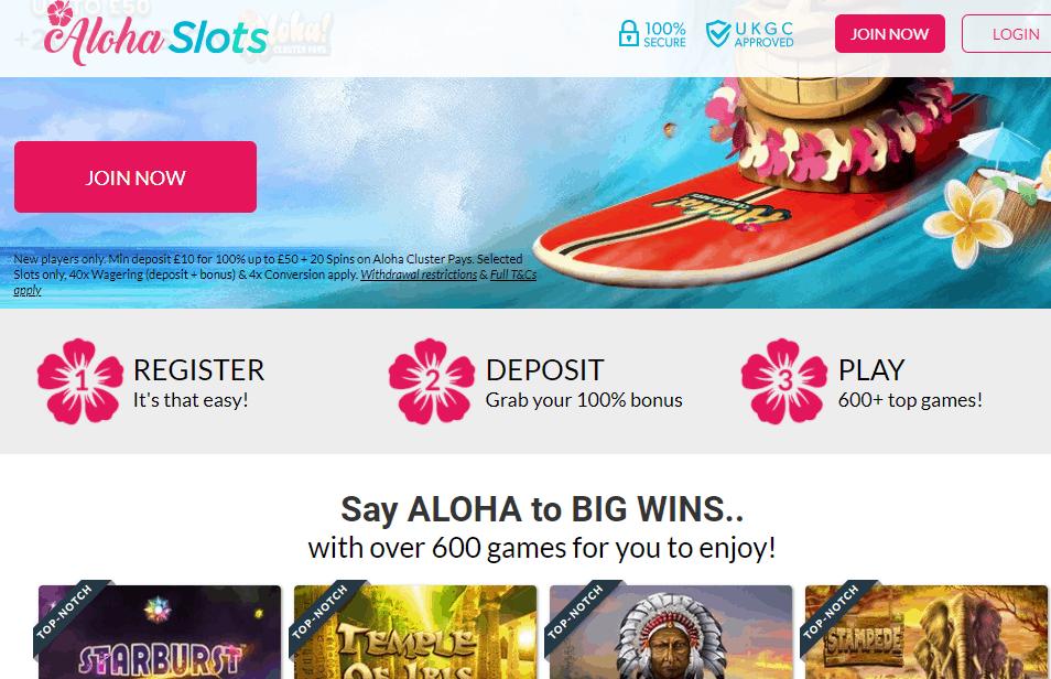 aloha slots promotions