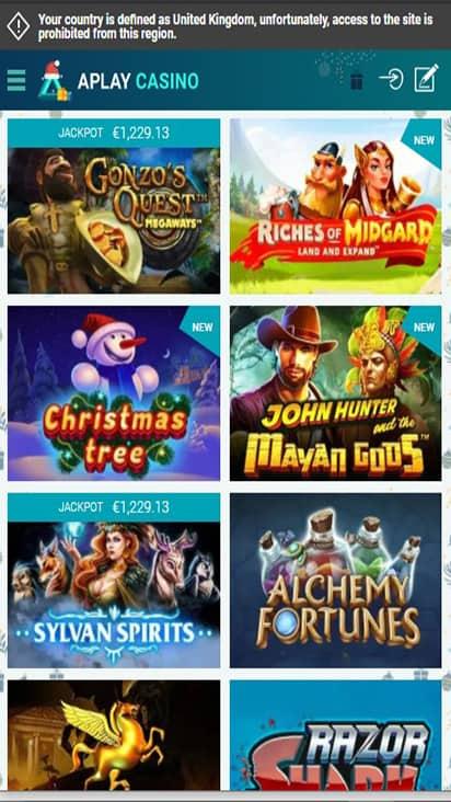 aplaycasino game mobile