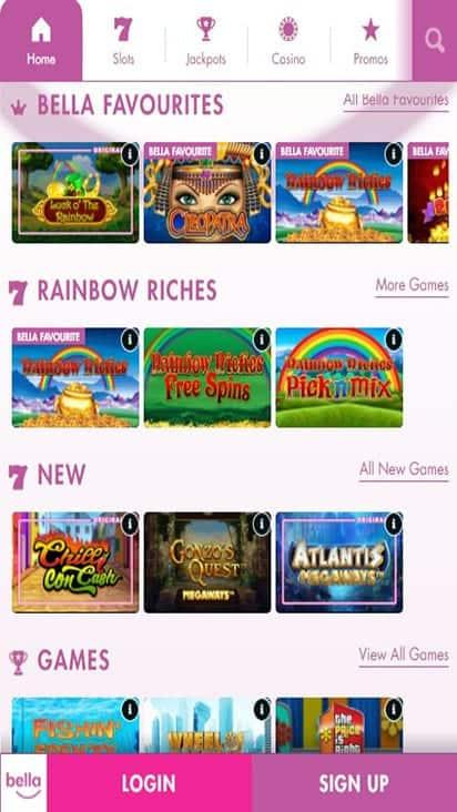 bella casino game mobile