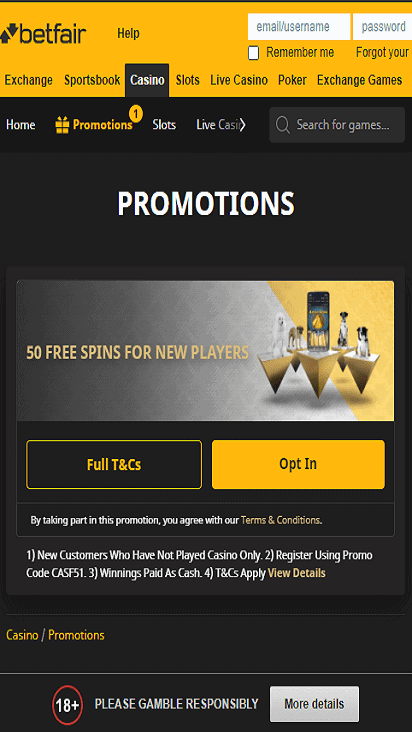 bet fair pomo mobile
