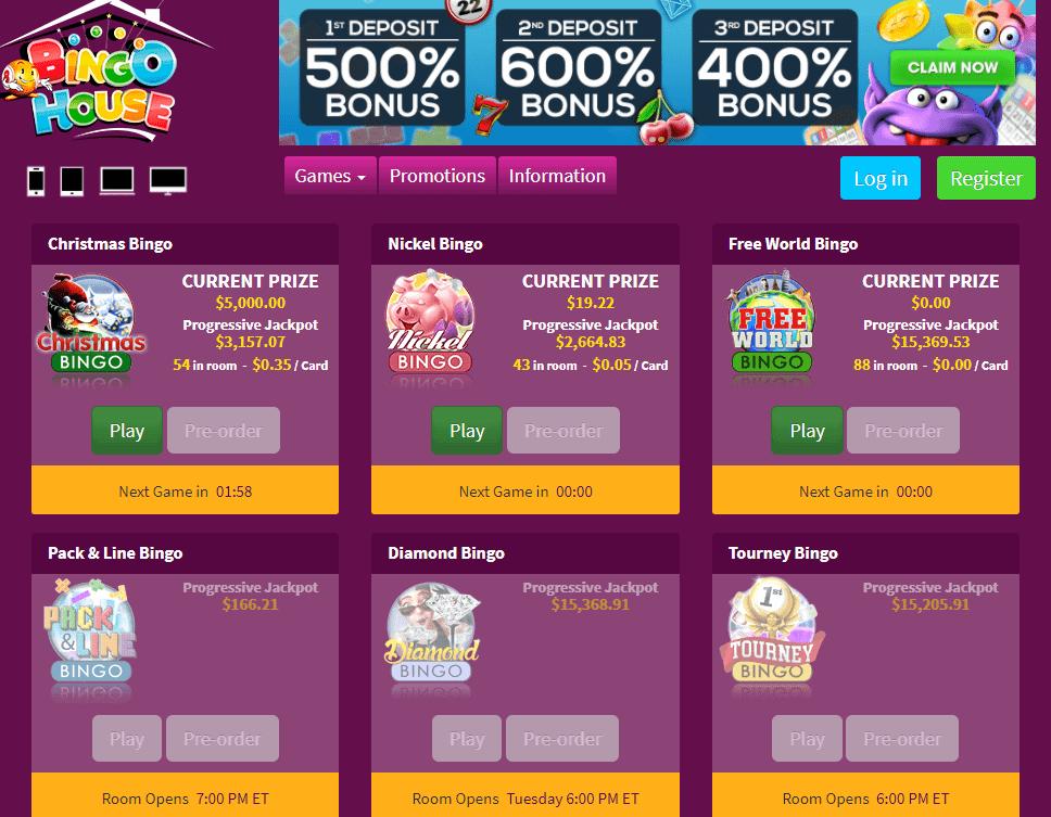bingo house games