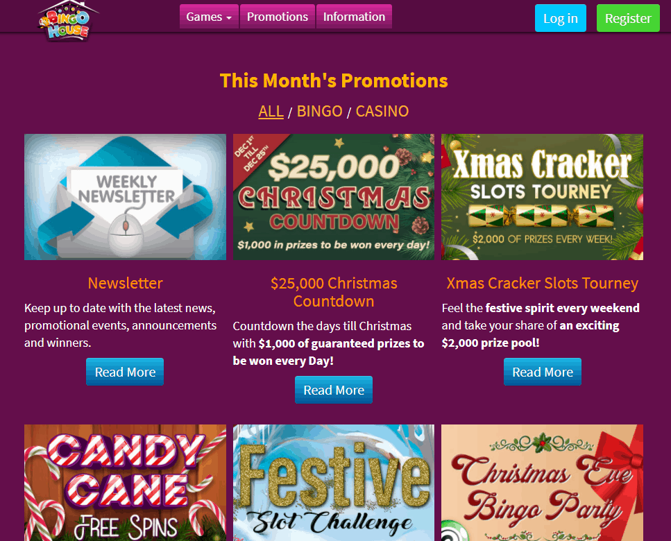 bingo house promotions