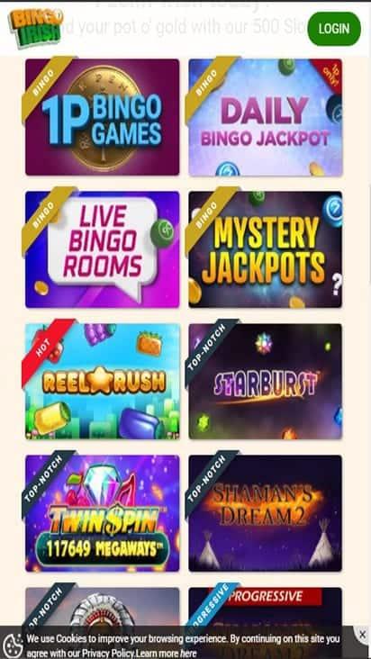 bingo irish game mobile
