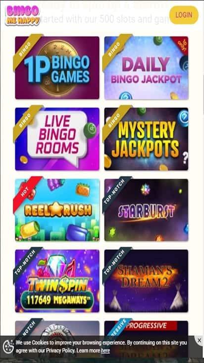 bingomehappy game mobile