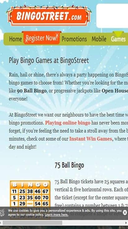 bingostreet game mobile