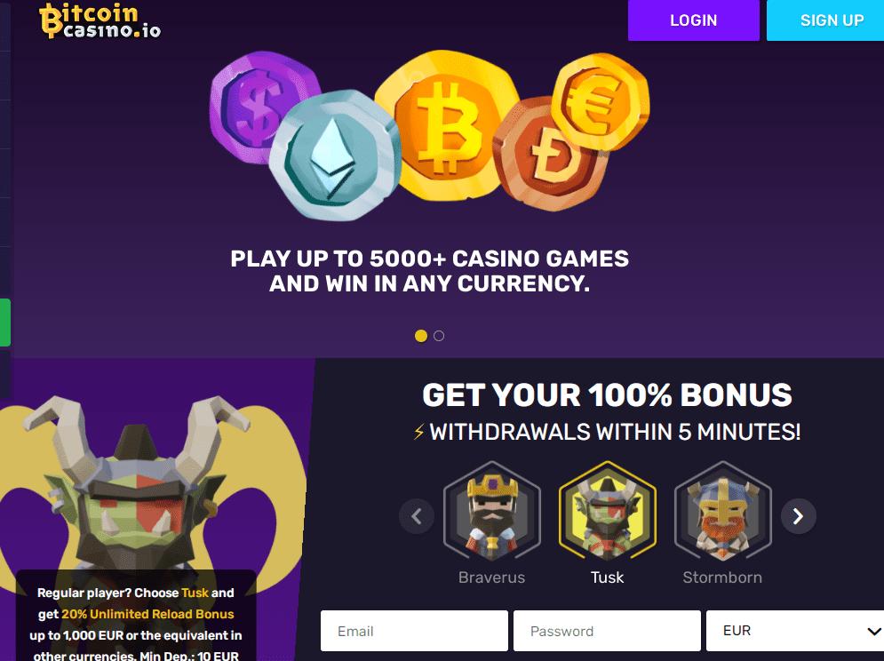 bitcoin casino home