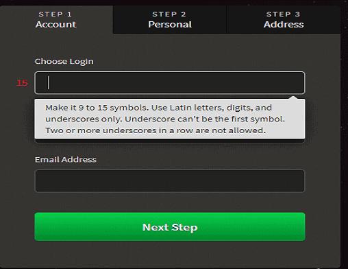 slots rush login