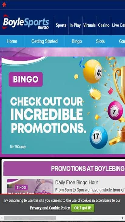 boyle bingo promo mobile