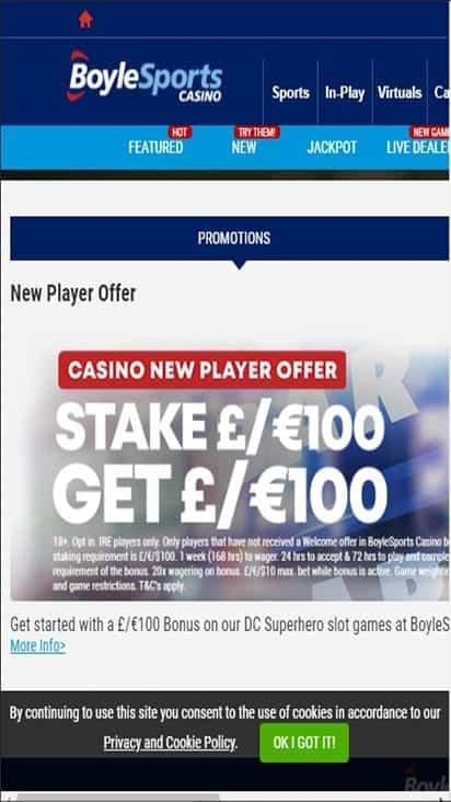 boyle casino promo mobile
