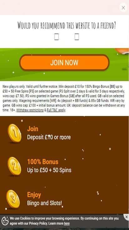 brown cow bingo promo mobile