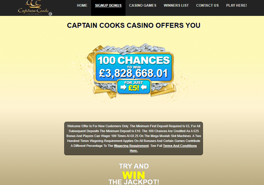 captaincooks casino promotions