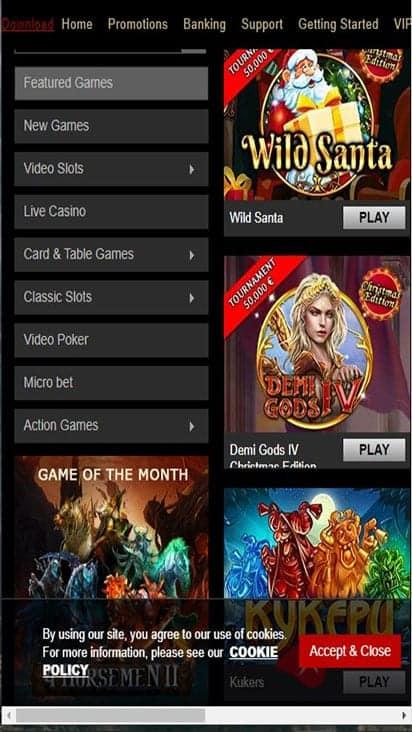 casino triomphe game mobile