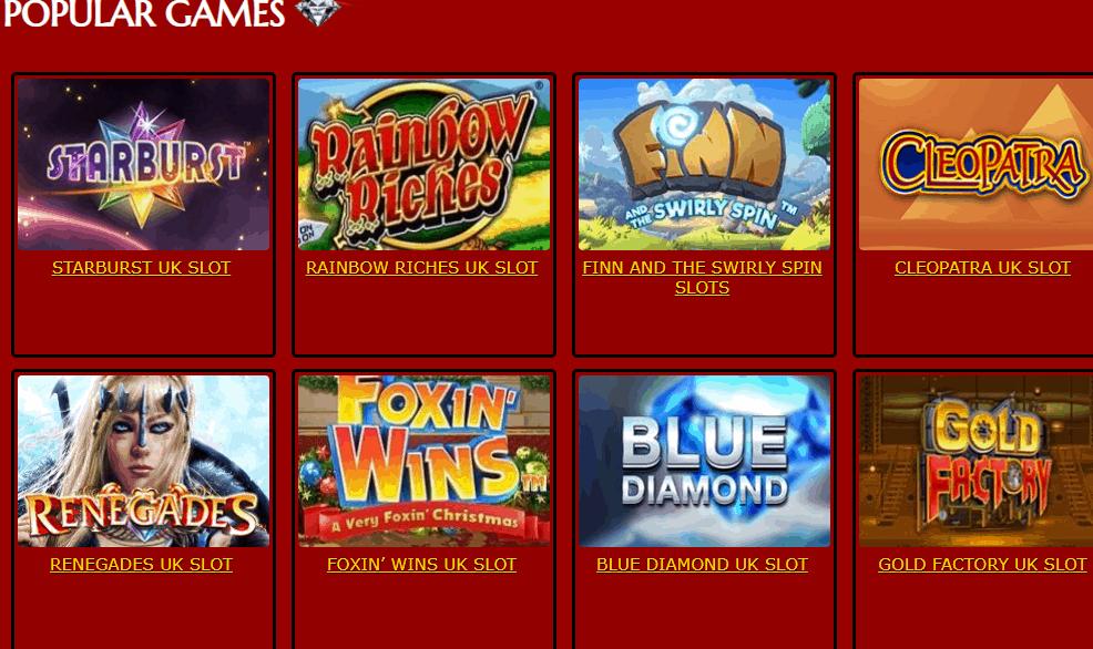 casino uk games