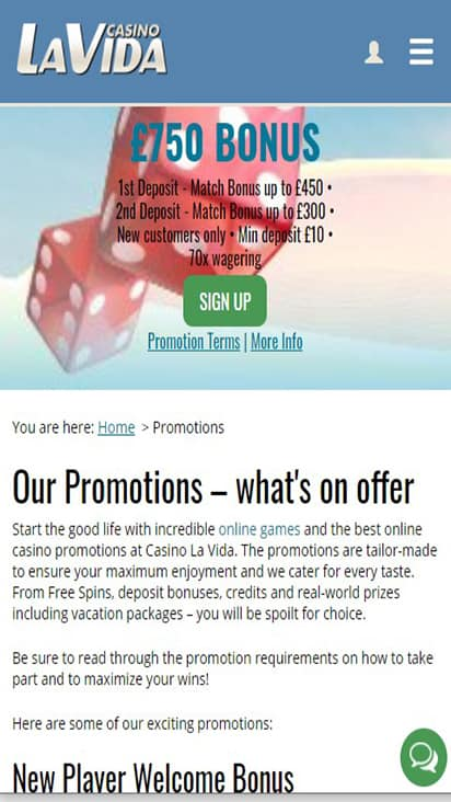 casinolavida promo mobile
