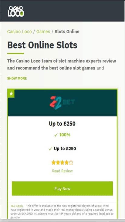 casinoloco game mobile