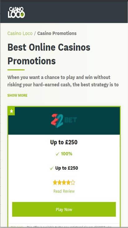 casinoloco promo mobile