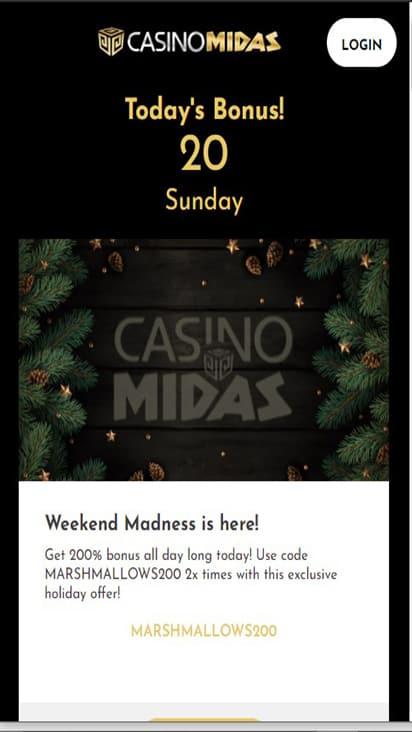 casinomidas promo mobile